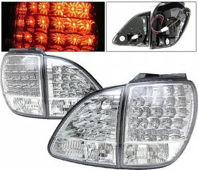 4 Car Option - Lexus RX 4 Car Option LED Taillights - Clear - LT-LRX98LEDC-YD