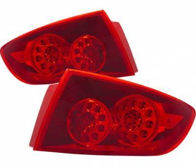 4 Car Option - Mazda 3 4DR 4 Car Option LED Taillights - Red - LT-MAZ34LEDR-KS