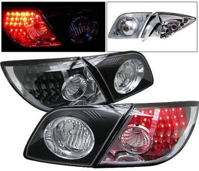 4 Car Option - Mazda 3 4 Car Option LED Taillights - JDM Black - LT-MAZ35JB-6