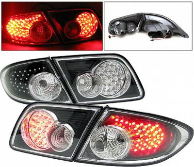 4 Car Option - Mazda 6 4 Car Option LED Taillights - Black - LT-MAZ6LEDJB-6