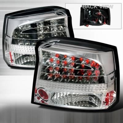 Custom Disco - Dodge Charger Custom Disco Chrome Euro LED Taillights - LT-CHG05CLED-YD