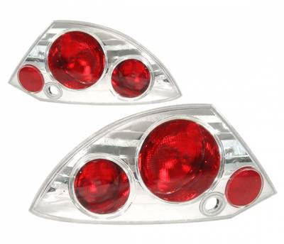 4 Car Option - Mitsubishi Eclipse 4 Car Option Altezza Taillights - Chrome - LT-ME00A-YD
