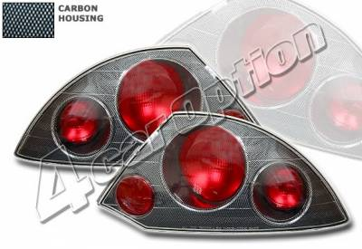 4 Car Option - Mitsubishi Eclipse 4 Car Option Altezza Taillights - Carbon Fiber Style - LT-ME00F-YD