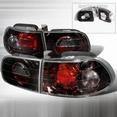 Custom Disco - Honda Civic Custom Disco Smoke Taillights - LT-CV923G-YD