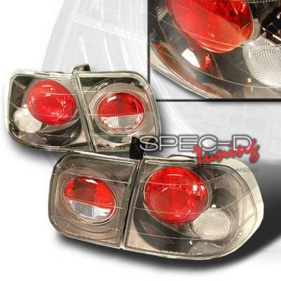 Custom Disco - Honda Civic 4DR Custom Disco Gunmetal Taillights - LT-CV964G-YD