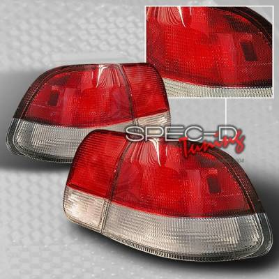 Custom Disco - Honda Civic 4DR Custom Disco Red & Clear Euro Taillights - LT-CV964RPW