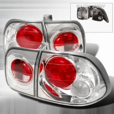 Custom Disco - Honda Civic 4DR Custom Disco Chrome Taillights - LT-CV964-YD
