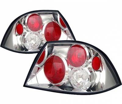 4 Car Option - Mitsubishi Lancer 4 Car Option Altezza Taillights - Chrome - LT-ML03A-YD
