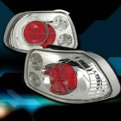 Custom Disco - Honda Del Sol Custom Disco Chrome Taillights - LT-DEL93-YD