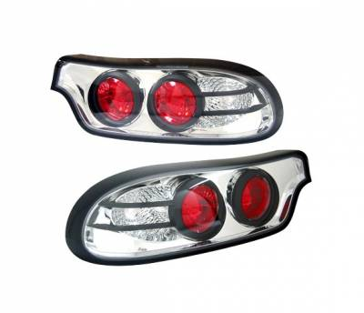 4 Car Option - Mazda RX-7 4 Car Option Altezza Taillights - Chrome - 3PC - LT-MRX7A-YD