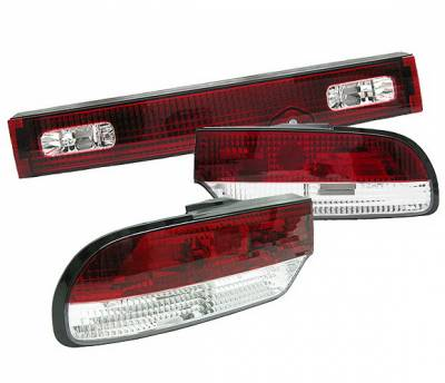 4 Car Option - Nissan 240SX 4 Car Option LED Taillights - Red & Clear - 3PC - LT-N240SX89-5