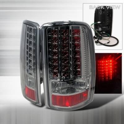 Custom Disco - GMC Denali Custom Disco Chrome LED Taillights - LT-DEN00GLED
