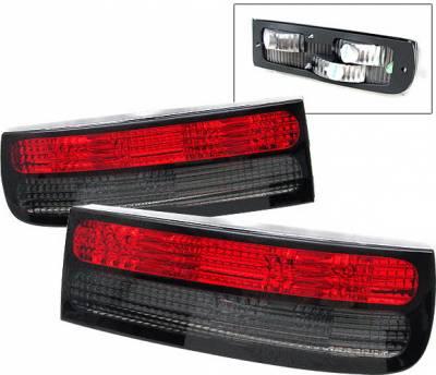 4 Car Option - Nissan 300Z 4 Car Option Taillights - Red & Smoke - LT-N300ZXRSM-9