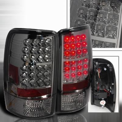 Custom Disco - Chevrolet Tahoe Custom Disco Smoke LED Taillights - LT-DEN00GLED-YD