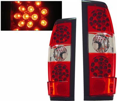 4 Car Option - Nissan Frontier 4 Car Option LED Taillights - Red & Clear - LT-NF98LEDRC-KS