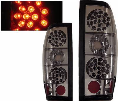4 Car Option - Nissan Frontier 4 Car Option LED Taillights - Smoke - LT-NF98LEDSM-KS
