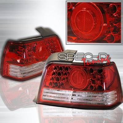 Custom Disco - BMW 3 Series Custom Disco Red & Clear LED Taillights - LT-E36924RPWLED