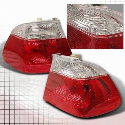 Custom Disco - BMW 3 Series Custom Disco Red & Clear Taillights - LT-E464RPW-YD