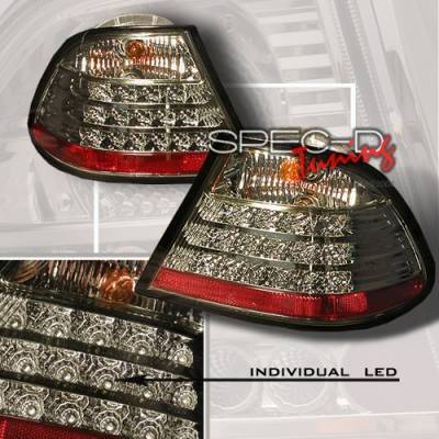 Custom Disco - BMW 3 Series Custom Disco Smoke LED Taillights - LT-E46992GLED