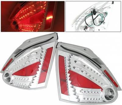 4 Car Option - Nissan Maxima 4 Car Option LED Taillights - Chrome - LT-NM04LEDC-DP