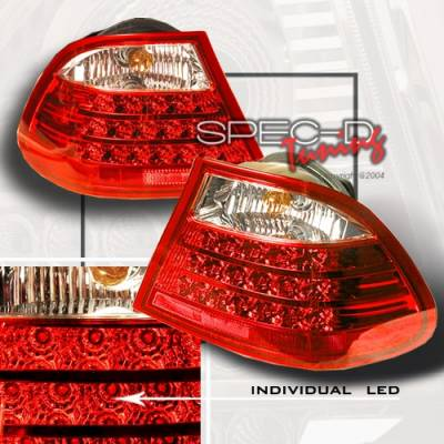 Custom Disco - BMW 3 Series Custom Disco Red LED Taillights - LT-E46992RLED
