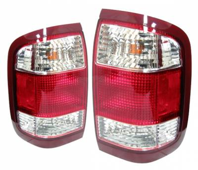 4 Car Option - Nissan Pathfinder 4 Car Option OEM Taillights - Red & Clear - LT-NP99OE-KS