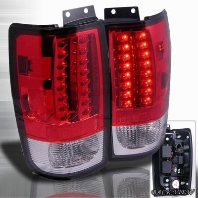 Custom Disco - Ford Expedition Custom Disco Red LED Taillights - LT-EPED97RLED-YD