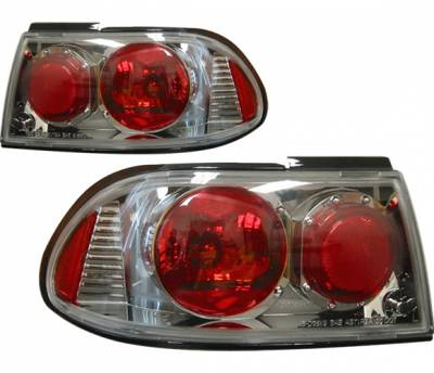 4 Car Option - Nissan Sentra 4 Car Option Altezza Taillights - Gunmetal - LT-NS95G-KS