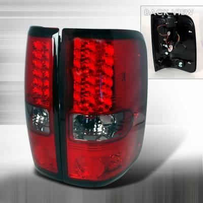Custom Disco - Ford F150 Custom Disco Red & Smoke LED Taillights - LT-F15004RGLED-YD