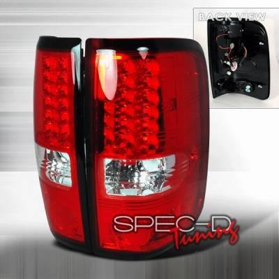 Custom Disco - Ford F150 Custom Disco Red LED Taillights - LT-F15004RLED-YD