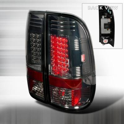 Custom Disco - Ford F150 Custom Disco Smoke LED Taillights - LT-F15097GLED