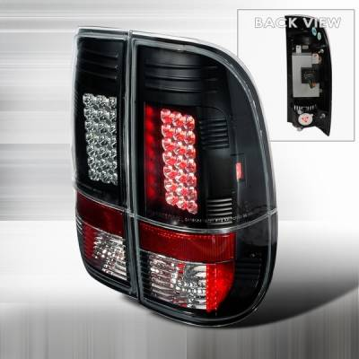 Custom Disco - Ford F150 Custom Disco Black LED Taillights - LT-F15097JMLED