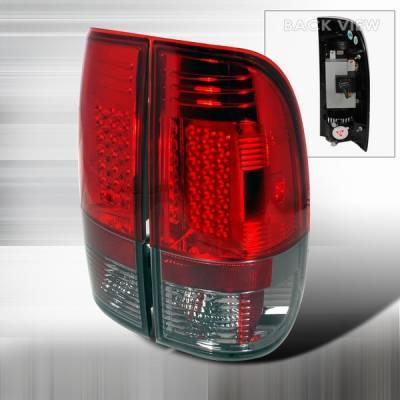 Custom Disco - Ford F150 Custom Disco Red & Smoke LED Taillights - LT-F15097RGLED