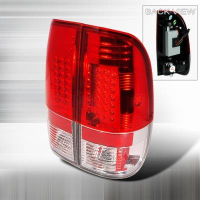 Custom Disco - Ford F150 Custom Disco Red LED Taillights - LT-F15097RLED