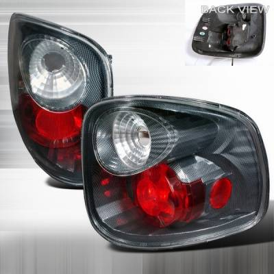 Custom Disco - Ford F150 Custom Disco Carbon Fiber Taillights - LT-F150F97CF-YD