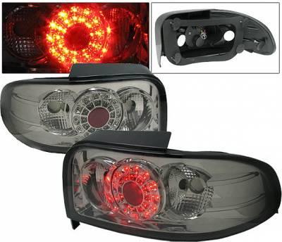 4 Car Option - Subaru Impreza 4 Car Option LED Taillights - Smoke - LT-SI93LEDSM-1