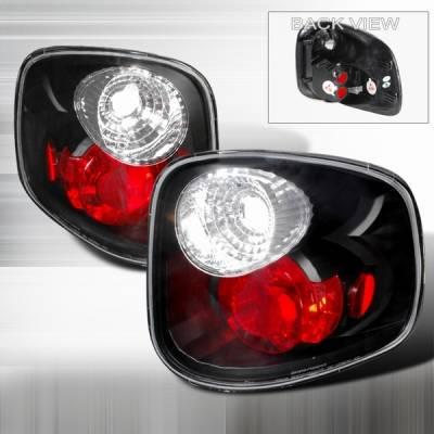 Custom Disco - Ford F150 Custom Disco Black Taillights - LT-F150F97JM-YD