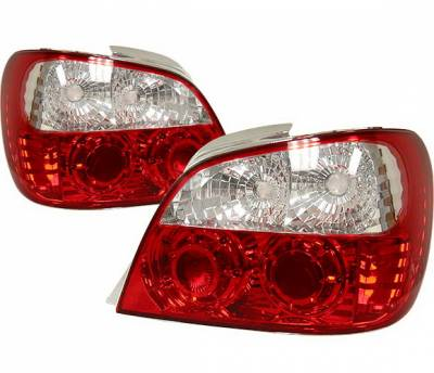 4 Car Option - Subaru WRX 4 Car Option Altezza Taillights - Jag Type - Red - LT-SW02J-YD