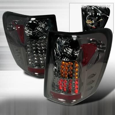 Custom Disco - Jeep Grand Cherokee Custom Disco Smoke Red & Amber LED Taillights - LT-GKEE99GLED-YD