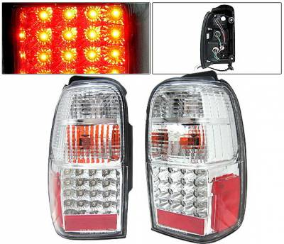 4 Car Option - Toyota 4Runner 4 Car Option LED Taillights - Clear - LT-T4R01LEDC-KS