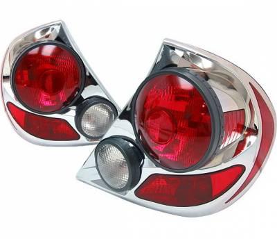 4 Car Option - Toyota Camry 4 Car Option 3D Style Taillights - Chrome - LT-TCA02DA-9