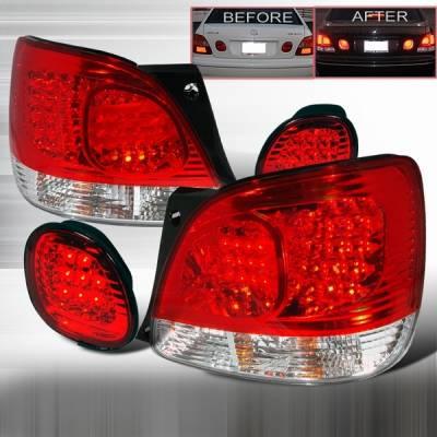 Custom Disco - Lexus GS Custom Disco Red LED Taillight & Trunk Lights - LT-GS300RTRLED