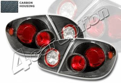 4 Car Option - Toyota Corolla 4 Car Option Altezza Taillights - Carbon Fiber Style - LT-TCL03F-YD