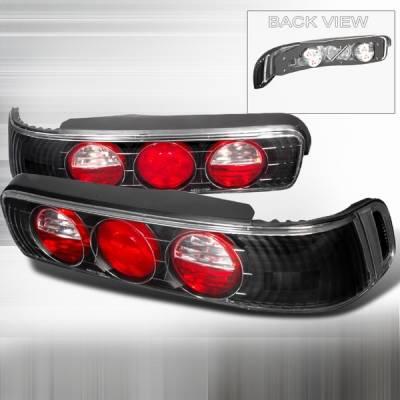 Custom Disco - Acura Integra 2DR Custom Disco Black Taillights - LT-INT902JM-YD