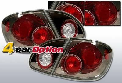 4 Car Option - Toyota Corolla 4 Car Option Altezza Taillights - Gunmetal - LT-TCL03G-YD