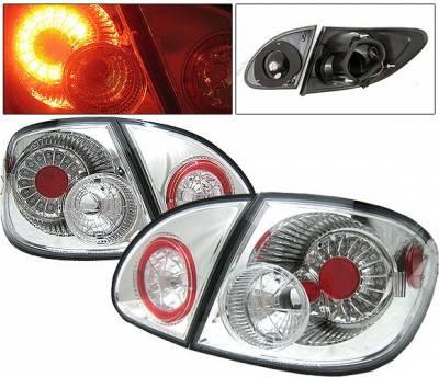 4 Car Option - Toyota Corolla 4 Car Option LED Taillights - Chrome - LT-TCL03LEDC-YD