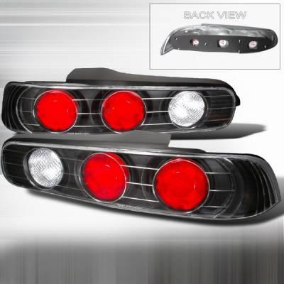 Custom Disco - Acura Integra 2DR Custom Disco JDM Black Taillights - LT-INT942JM-YD