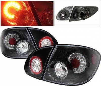 4 Car Option - Toyota Corolla 4 Car Option LED Taillights - Black - LT-TCL03LEDJB-YD