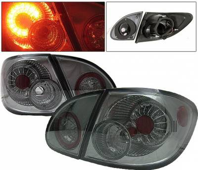 4 Car Option - Toyota Corolla 4 Car Option LED Taillights - Smoke - LT-TCL03LEDSM-YD