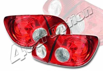 4 Car Option - Toyota Corolla 4 Car Option Altezza Taillights - Red - LT-TCL03R-KS